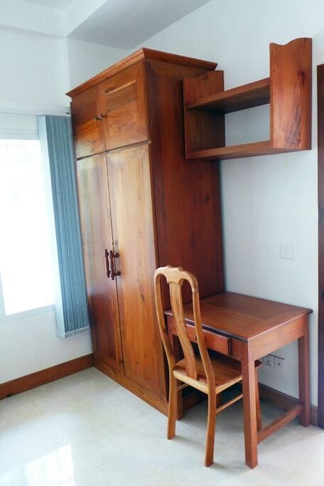 Desk and wardrobe in the master bedroom
