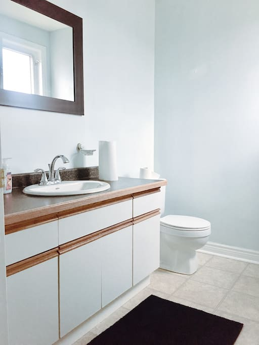 Your private ensuite bathroom, no shaper in this bathroom - the shower bathroom in the main one, which is shared.