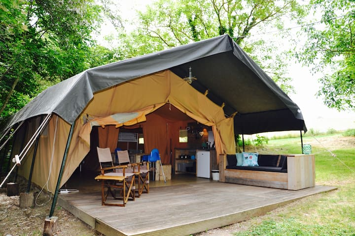Luxurious glamping in the heart of Southern France