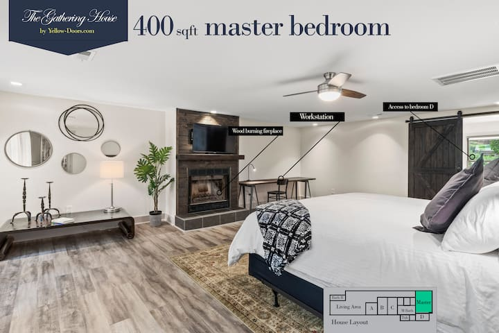 Large 400 sqft master bedroom