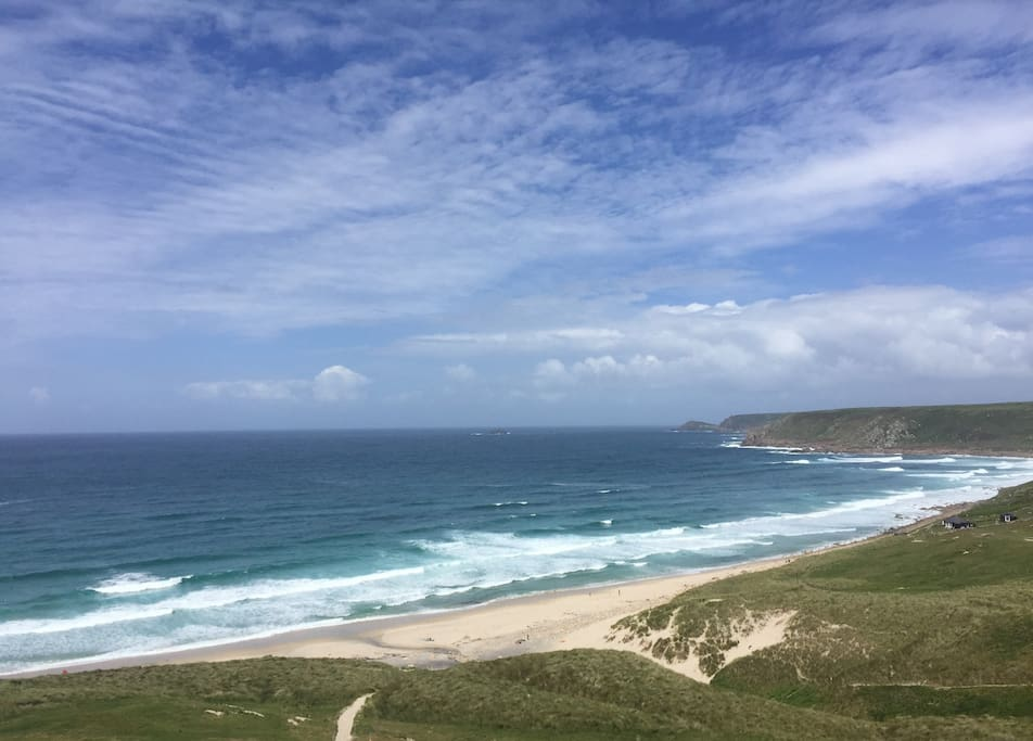 sennen beach,  great for surfing