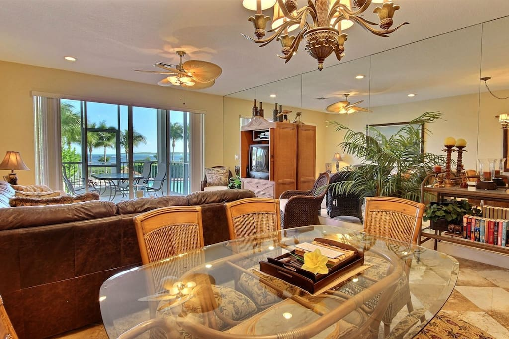 Open floor plan living with oceanview