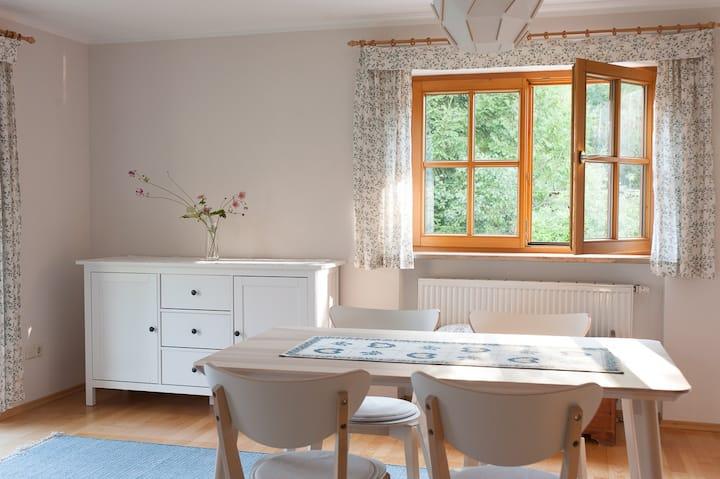 Romantische Gartenwohnung am Wildbach Halblech