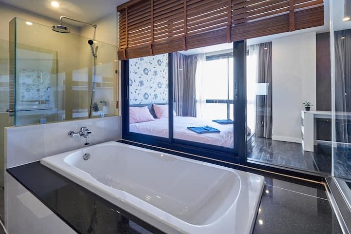 ✈Sea-view 80sqm-1 Bedroom Home-Patong Beach