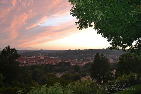 La vista al tramonto dalla Cinciarella / Sunset from Cinciarella