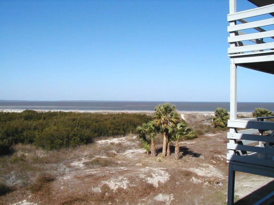 View of the Savannah River Entrance and Atlantic Ocean from your Private Balcony