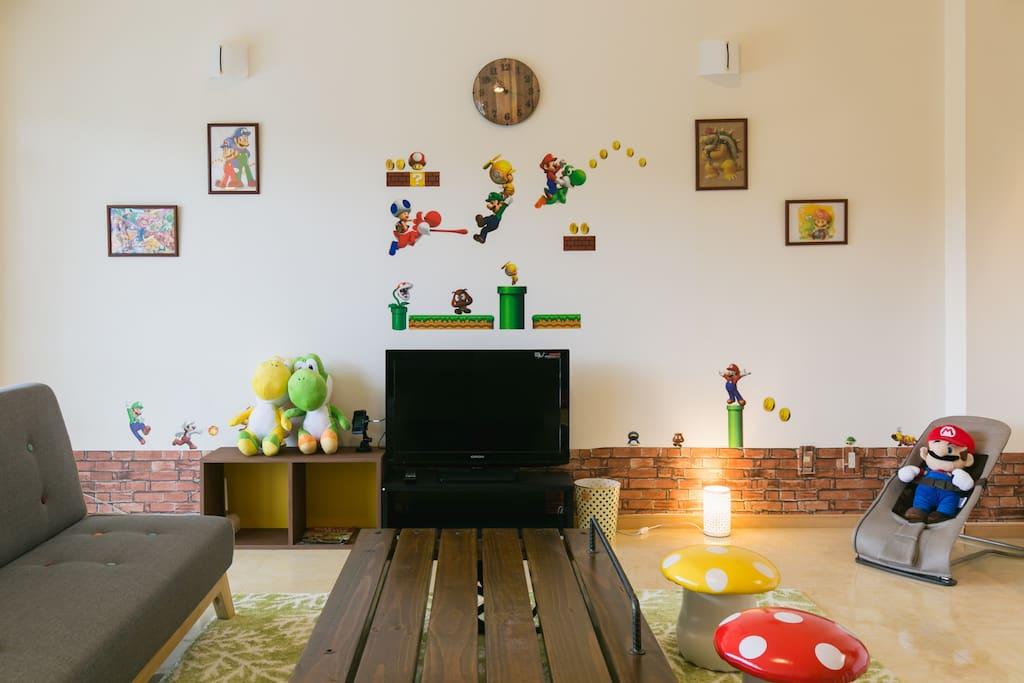 #Mario House Living