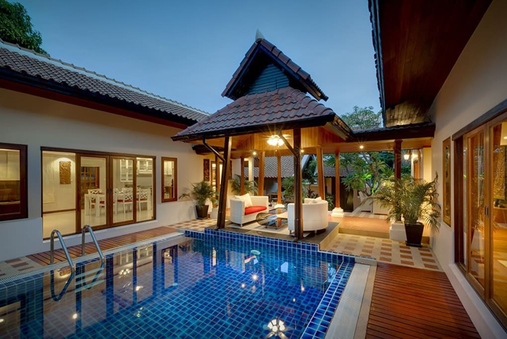 Pool and chill-out area