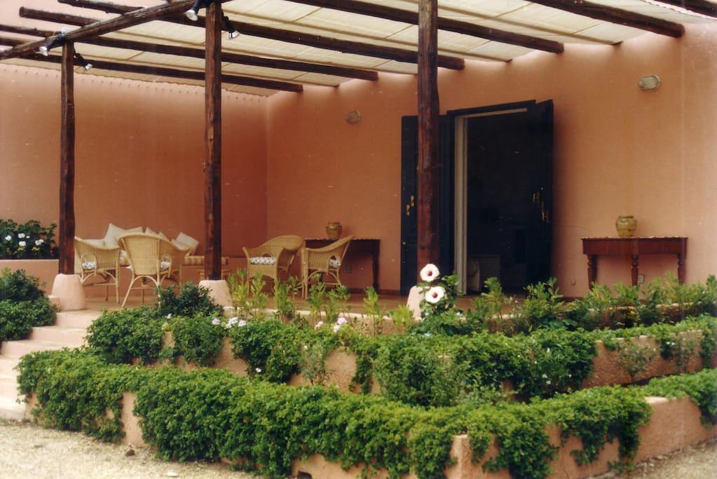 Il terrazzo del soggiorno