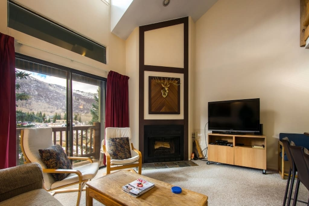 Wood Burning Fireplace / Mountain Views and Private Balcony