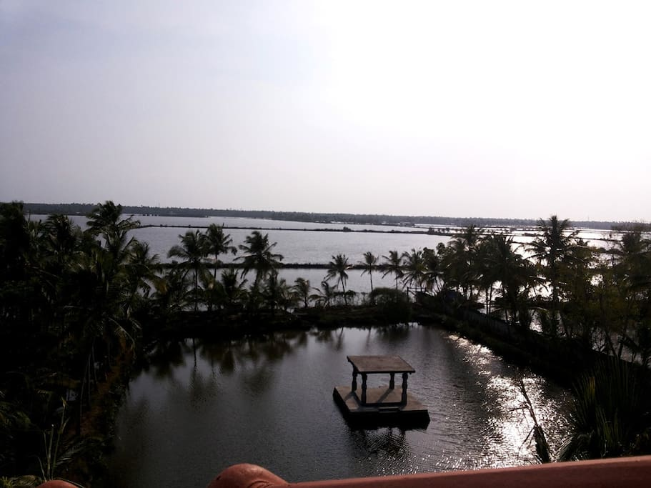 Evening view of Backwaters on west - Seen from the Rooftop Garden of Shravanam Greens