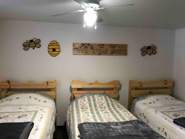 Three Little Bears  Bottom Level Bedroom
