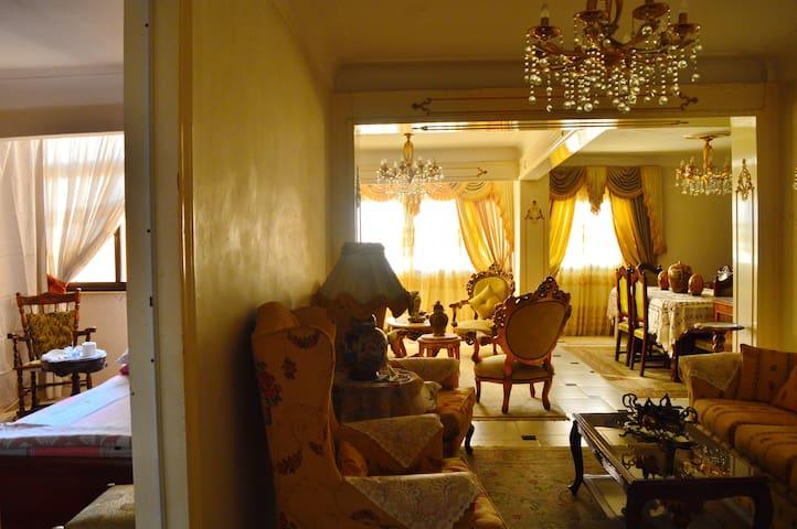 Bright sunny room and reception