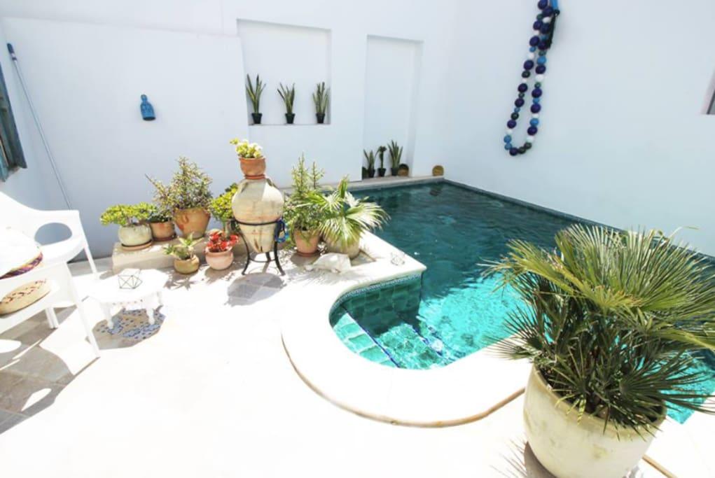Suite el kef dans la maison d 39 h tes dar r 39 bat for Maison traditionnelle tunisienne