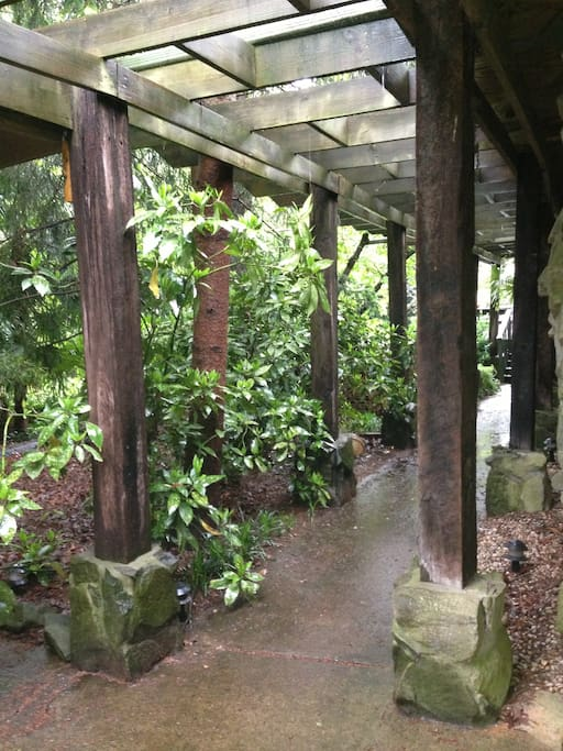 Walkway to main house and deck.