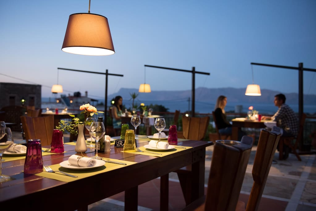 Romantic Restaurant in Greece.
