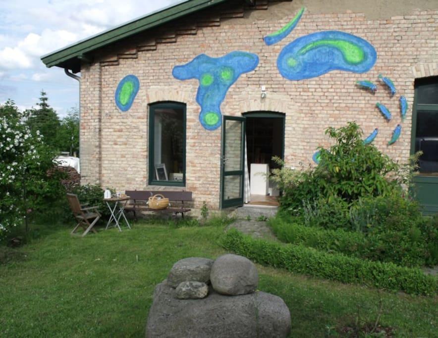 Euer Eingang von der Gartenseite (Westseite)