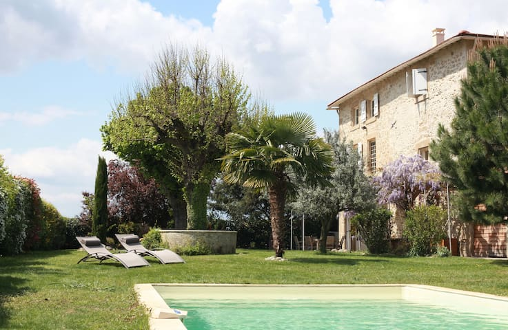 Les Magnarelles - chambre + piscine - Romans-sur-Isère - House