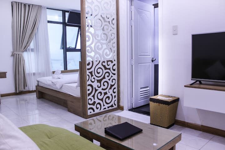 Gold Ocean-Studio Apartment Twins bed-Ocean view