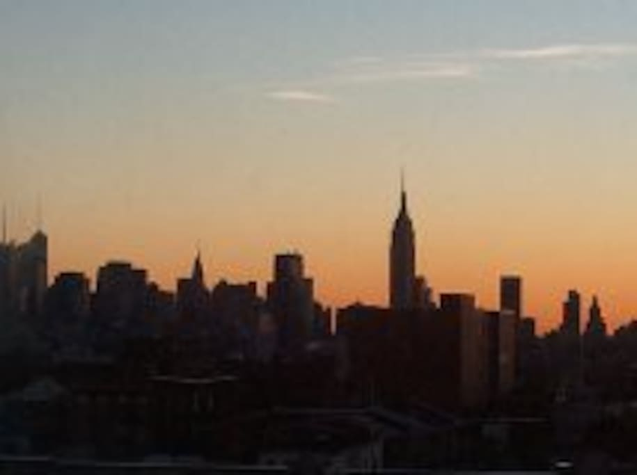 view of NYC from the balcony
