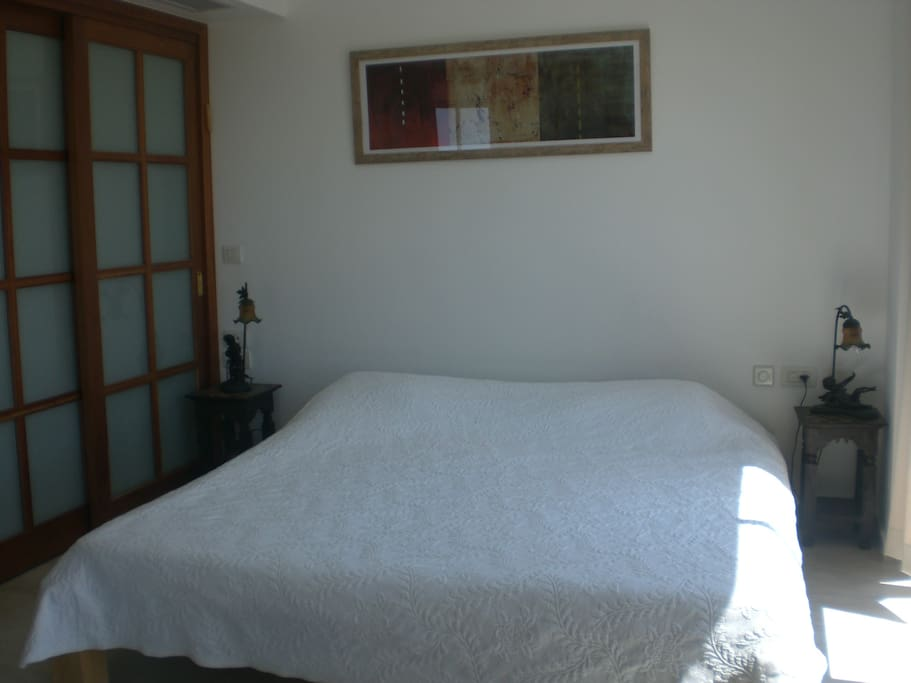 master bedroom with king size bed for israel vacation