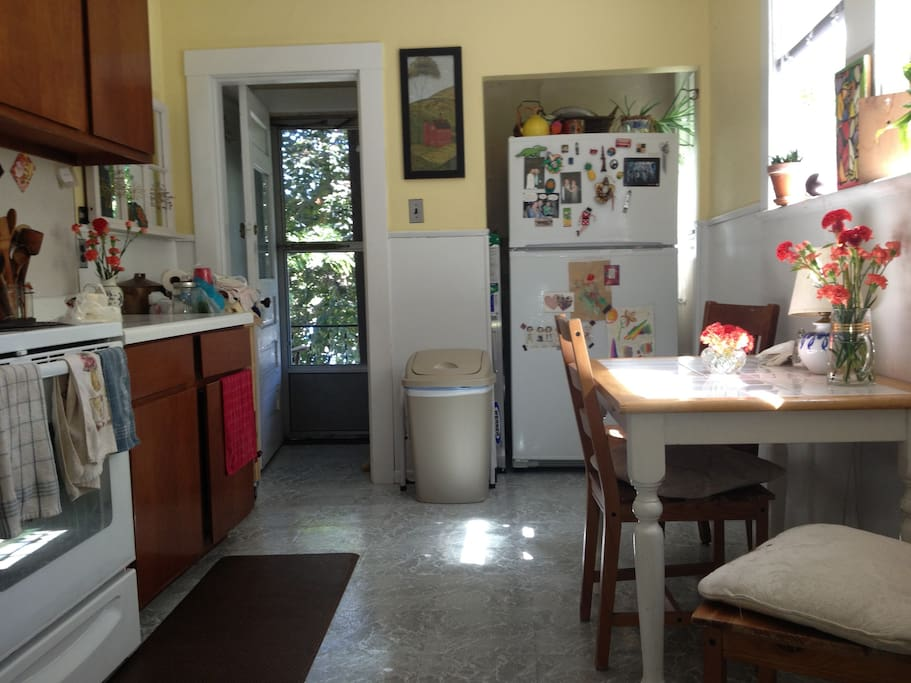 sunny eat-in kitchen