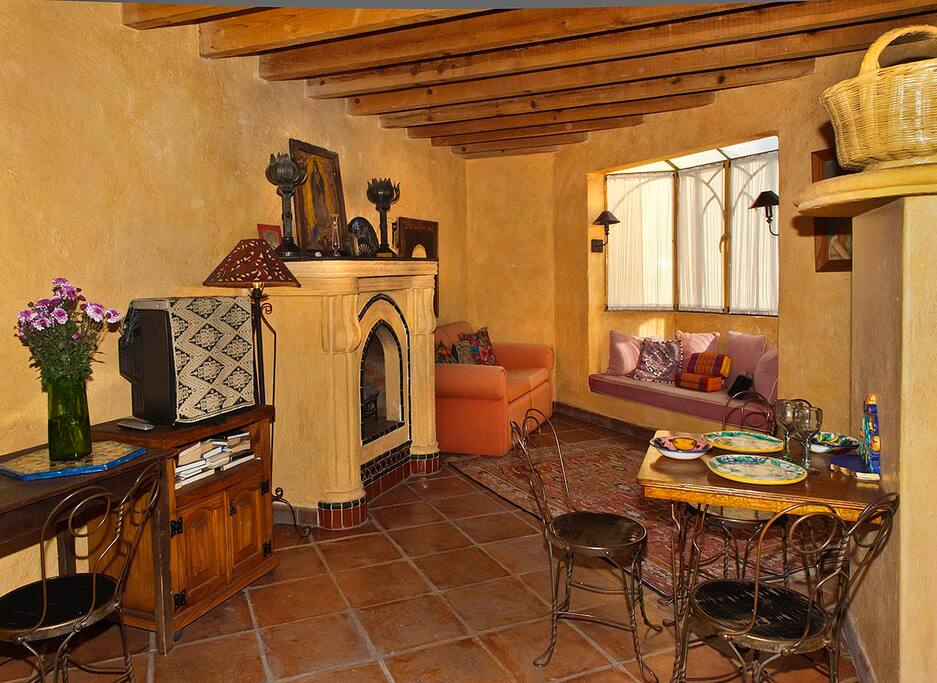 Dining area and living room of Casa Guadalupe 2