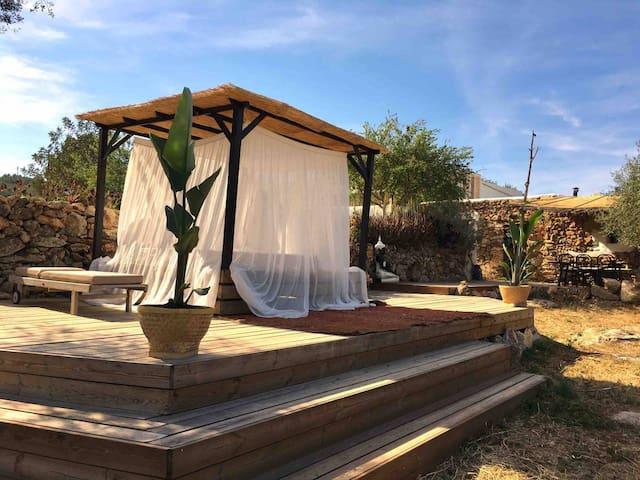 Country side ecologic private casita in Ibiza