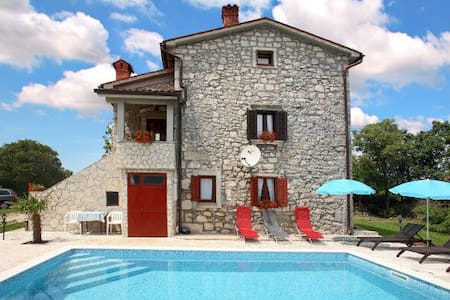 Rustic Villa Volta with  pool - Labin