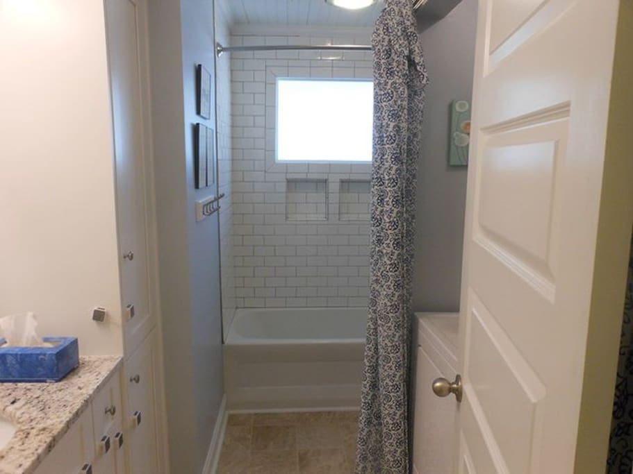 Your private bathroom - across the hall from your room