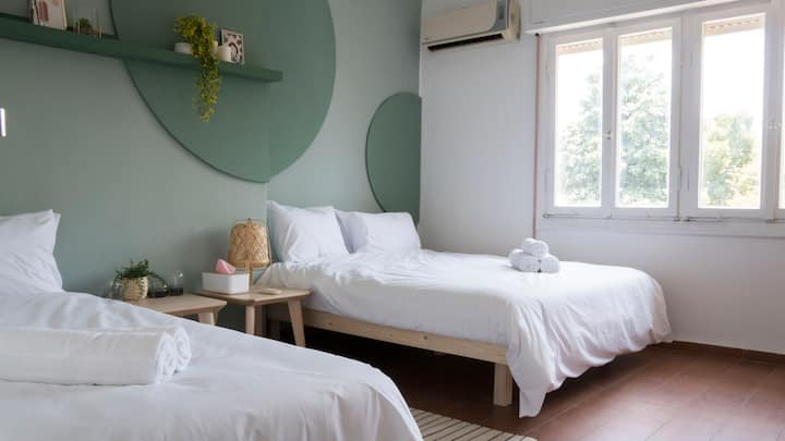 ❤ Stylish Triple Room in Central TLV ☆ Fast Wifi ☆