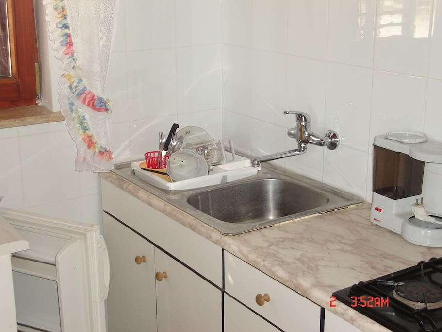 small kitchen in Ive studio apartment