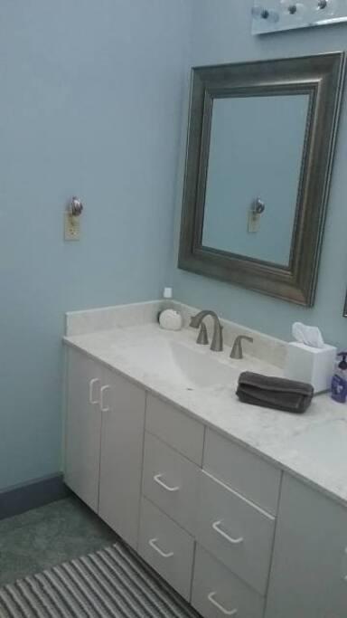 Two sink vanity.
