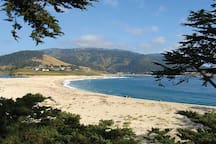 The beach and bay at Carmel by the Sea.