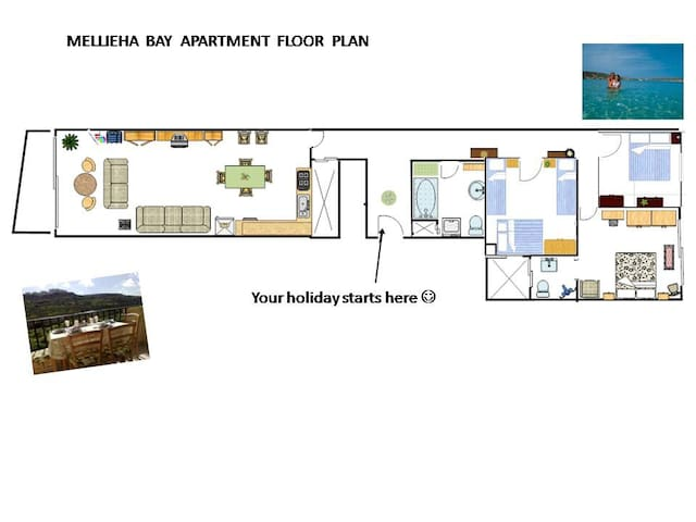Architect's plan of my apartment.