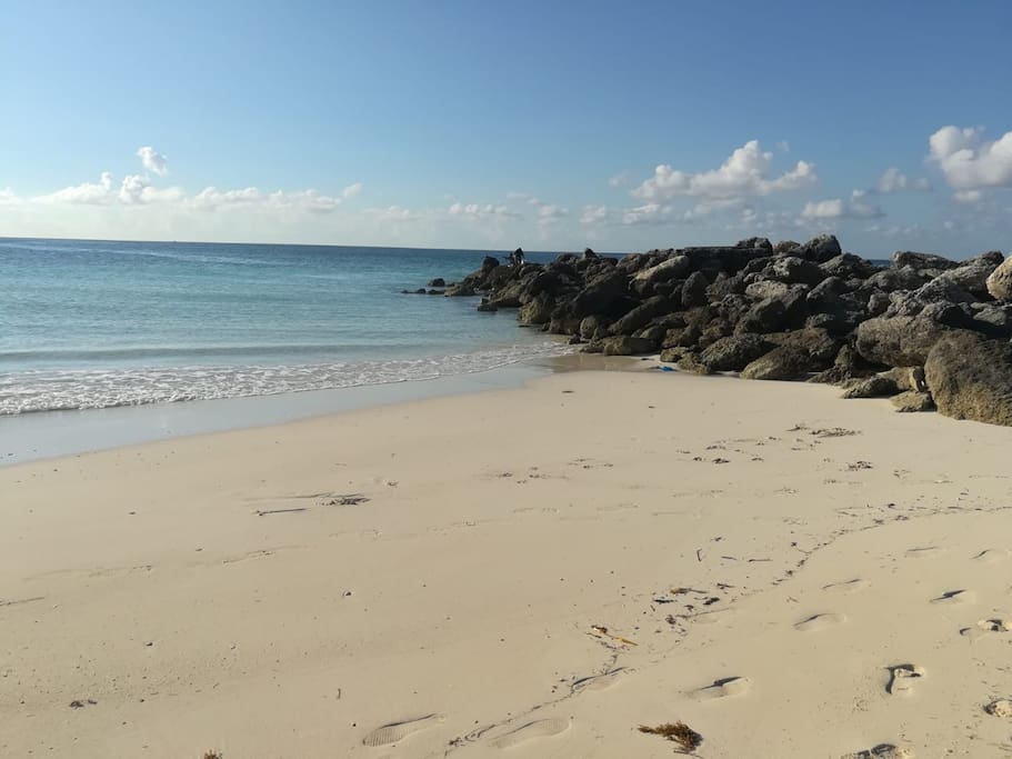 Gorgeous beach minutes from condo great for snorkeling, fishing, swimming, suntans and picnics.