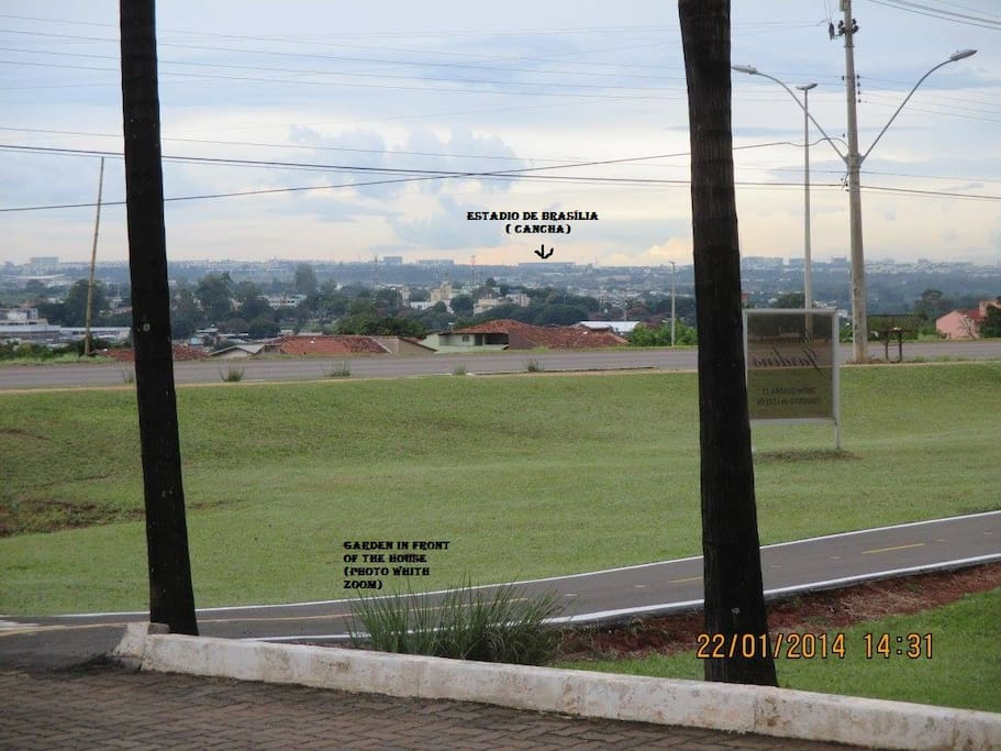 Vista do Estádio de Fútebol de Brasília.