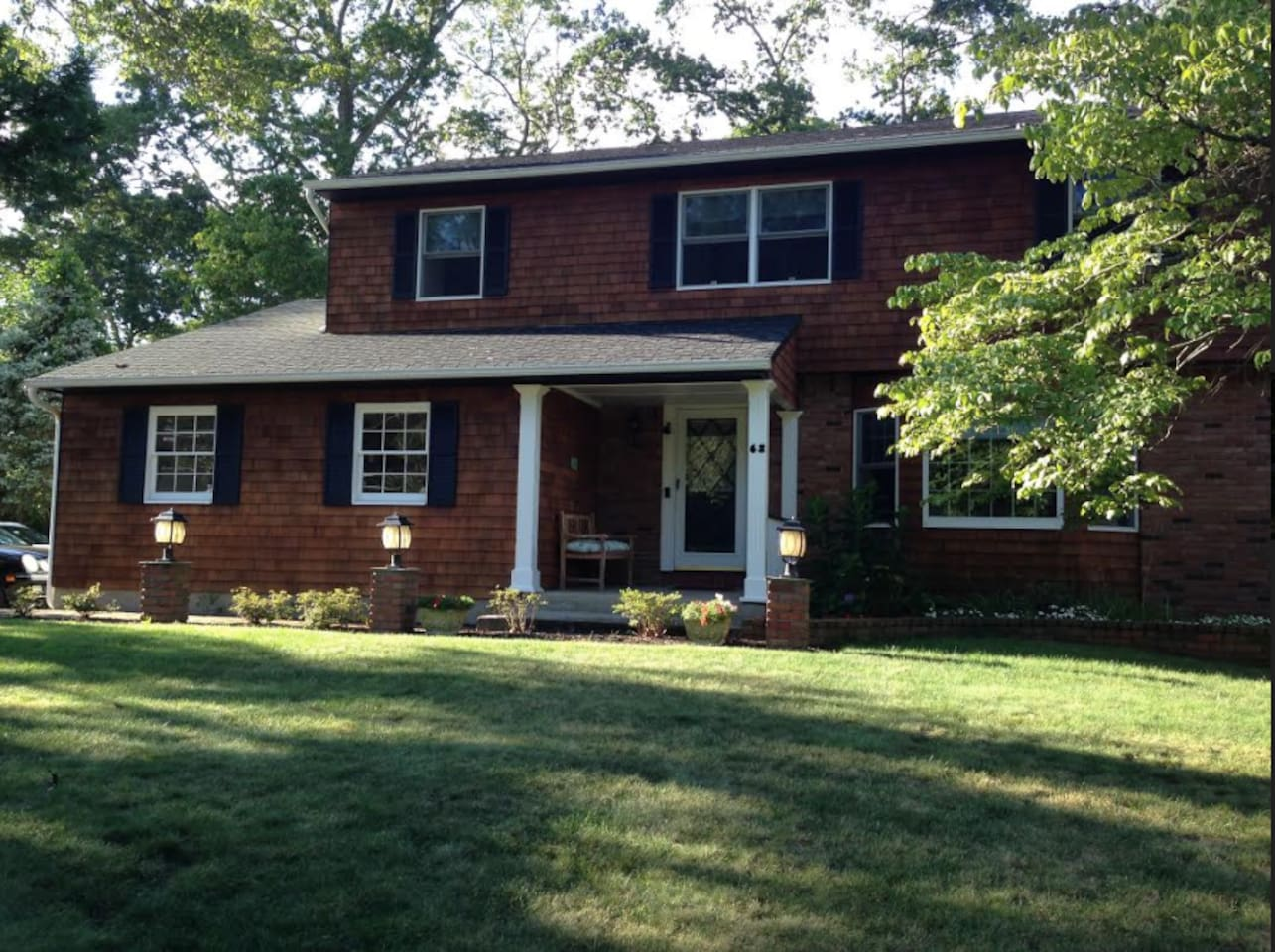 Newly fully renovated Colonial House with beautifully landscaped back yard,  triple decks, and a gas grill.  A library/office with a printer/scanner/fax machine, and a game room featuring pool and ping pong tables, and tread mill.