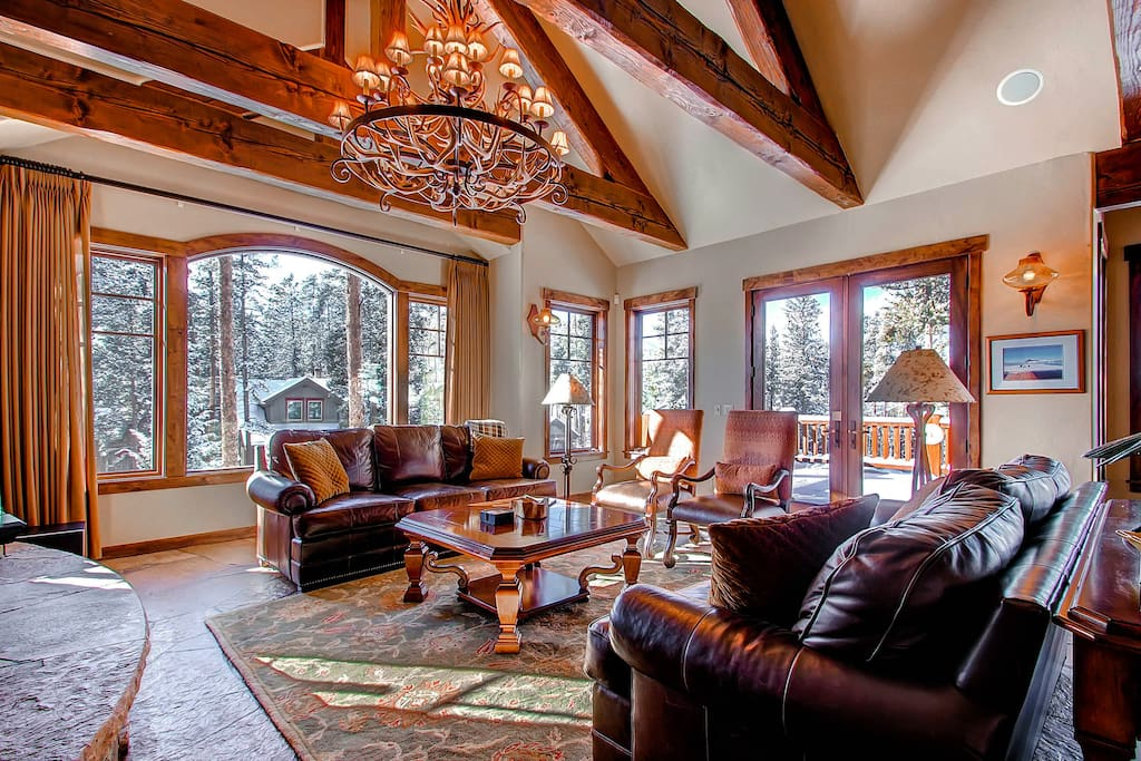 lets in great daylight and offers exceptional views of the Ski Area