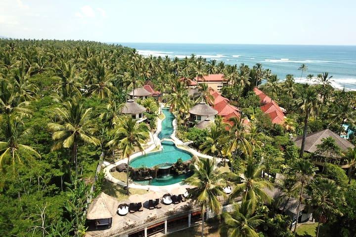 Beachfront Balinese Villa