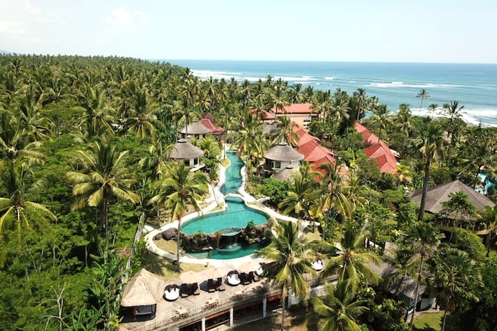 Beachfront Balinese Villa