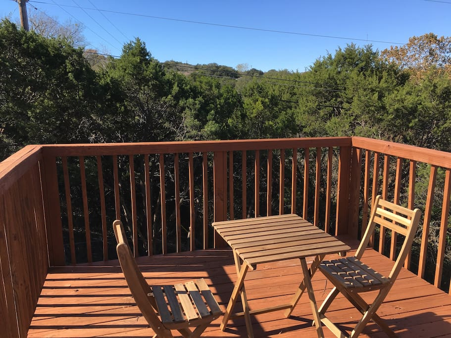 Enjoy some fresh air on the back deck