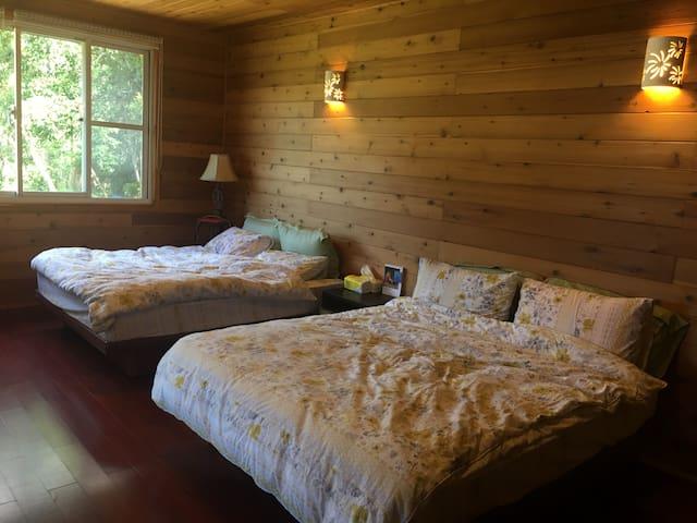 「Hngaw河鬧小屋」─ 在自然的浪漫中找平靜【大套房(4~6人)】