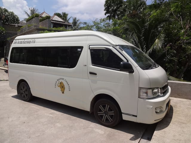 Our 15 seat mini-bus with driver/guide for your use during your holiday