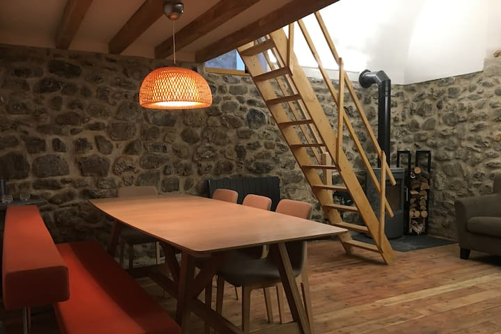 Charming flat. Ski, hiking holidays. 1h from Nice - Saint-Étienne-de-Tinée - Lägenhet