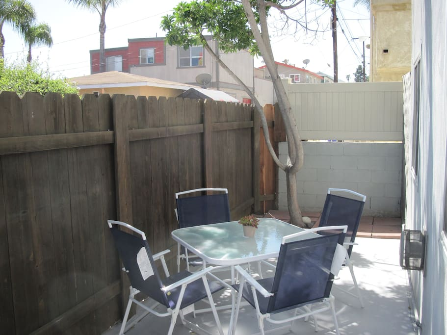 Private Outdoor Patio with table and chairs for 4