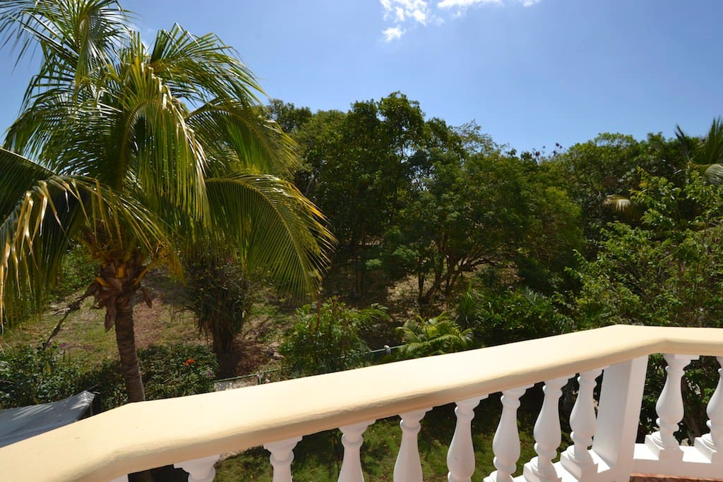 Blick vom Balkon auf den Mayapark
