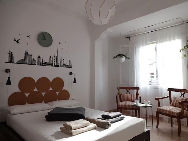 Una habitación espaciosa en En Corts