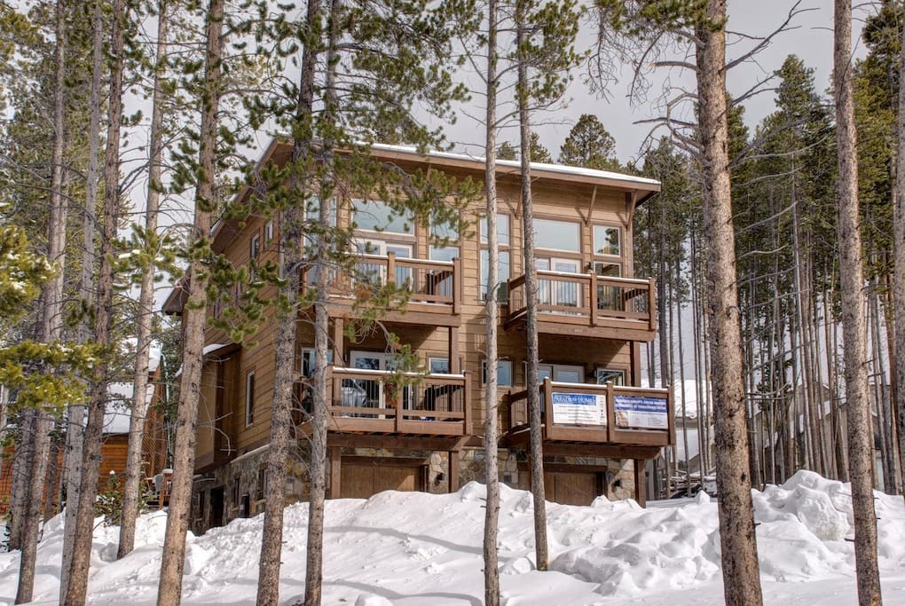 The newly constructed town home is located in Warriors Mark on peak 10.