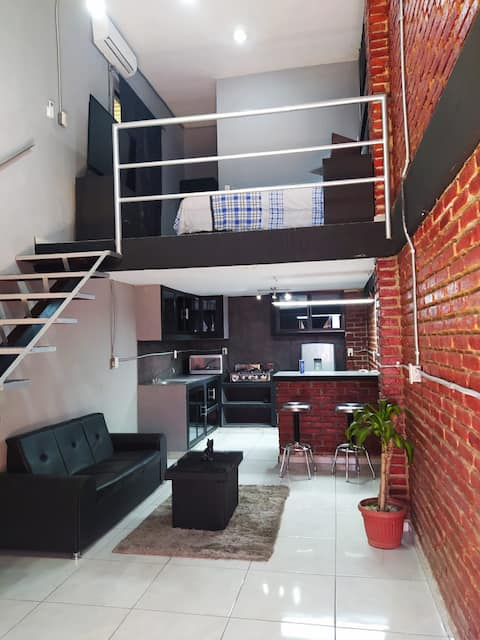 Loft  equipped with terrace.